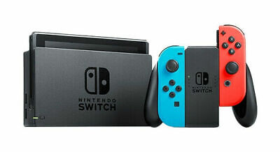 Nintendo Switch Console - Black with Neon Blue and Neon Red Joy-Controller