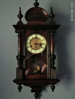 Antique small Vienna wall clock by HAC