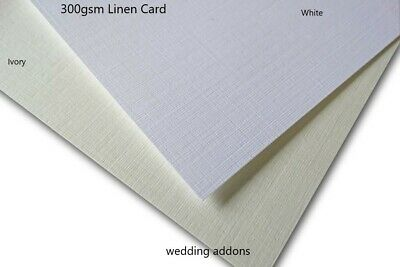A4 textured Card Linen / Hammer / Ivory / White 300gsm High QUALITY