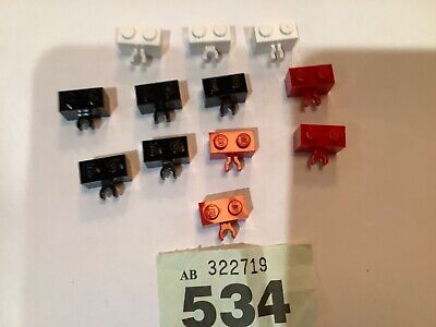 30237 // 95820 LEGO Brick 1x2 with Vertical Clip - Packs of 4 Choose Colour