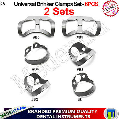 2 Sets Brinker Universal Retractor Clamps Tissue Molar Rubber Dam Endodontics