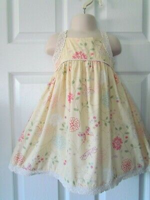 2T Lightweight Peach Floral Dress With Bloomers Nwt Baby Gap Girls 2