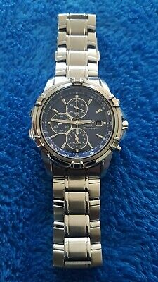 Seiko Mens Solar Chronograph Watch v172-0aj0 Mint Condition..