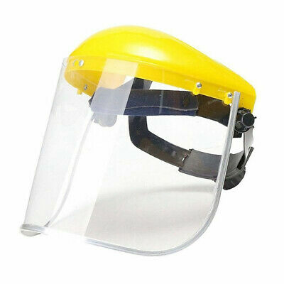 Clear Head-mounted Safety Full Face Eye Protective Shield Visor Screen Grinding
