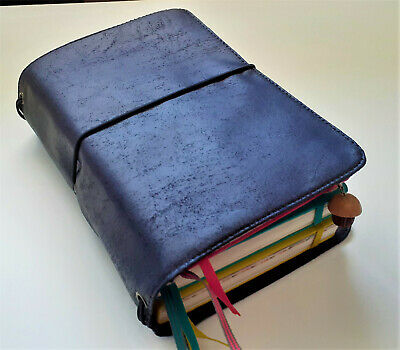A6 Handmade Soft Vegan Leather Travellers Notebook Fauxdori Midori With Pockets