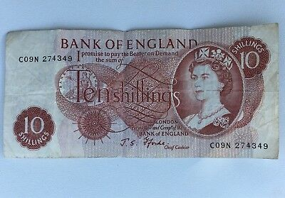 For that Collector - England - Ten 10 Shillings Note & £1 One Pound Note