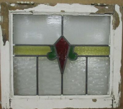 """OLD ENGLISH LEADED STAINED GLASS WINDOW Abstract Stripe Design 20.25"""" x 17.75"""""""