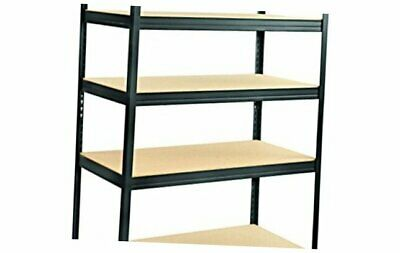 Black Safco Products 6247BL Boltless Steel and Particleboard Shelving 36W x 24D x 72H with 5 Shelves