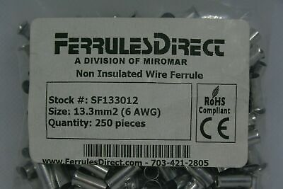 1,000-Pack 0.39-Inch Length Panduit F78-10-M Ferrule 16 AWG 1.5mm/² Non-Insulated