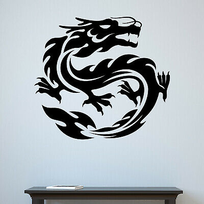 Striking motion effect oriental Chinese Dragon durable car wall stickers decal