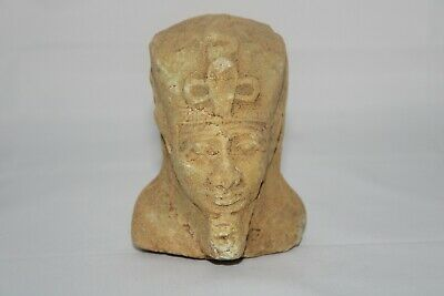 RARE ANCIENT EGYPTIAN ANTIQUE KHAFRA Head Statue Lime-Stone 2430-2460 BC