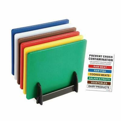 6x Professional Catering Chopping Board Colour Coded Cutting Boards Commercial