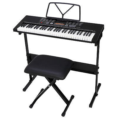 Electronic Keyboard Electric Digital 61 Key Music Piano Organ with Stand