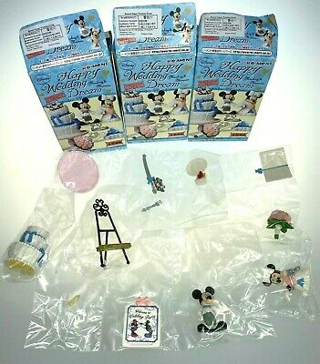 No.4 Rement Disney Miniature Mickey /& Minnie Mouse Happy Wedding Candle Holders