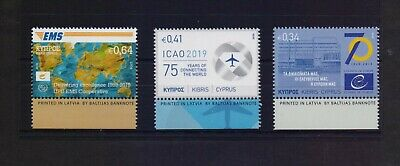 Cyprus 2019 Anniversaries - Events Mnh Set Stamps  Combined Shipping