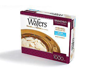 Communion Bread Wafer Round - Box of 1,000