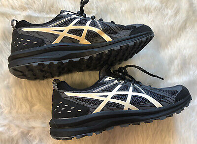 ASICS FREQUENT TRAIL Casual Running Shoes Black Mens