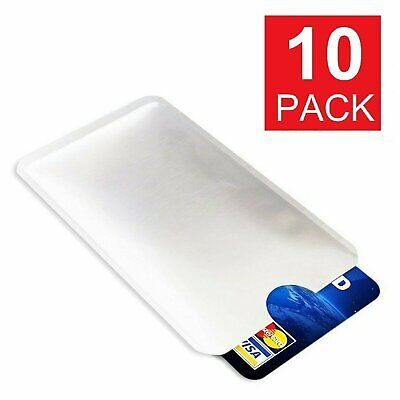 10 pcs Credit Card Protector Secure Sleeves RFID Blocking ID Holder Foil Shield