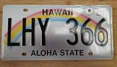 With Sticky Notes Hang Loose Hawaiian Islands Background Novelty Metal License Plate