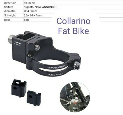 distanziale per collarino deragliatore anteriore fat bike 16,45 mm RIDEWILL BIKE