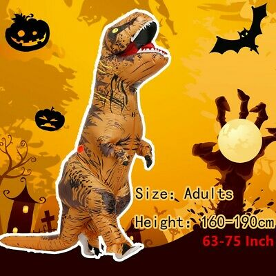 T-Rex Inflatable Costume Party Cosplay Halloween Blow Up Outfits For Adult