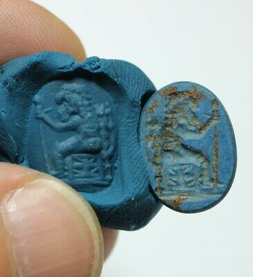 ZURQIEH -as17907- ANCIENT GREEK STONE INTAGLIO WITH HERACLES. 400 - 300 B.C
