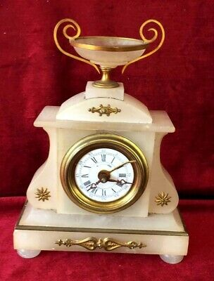 A Nice French Mantle Clock With Alarm