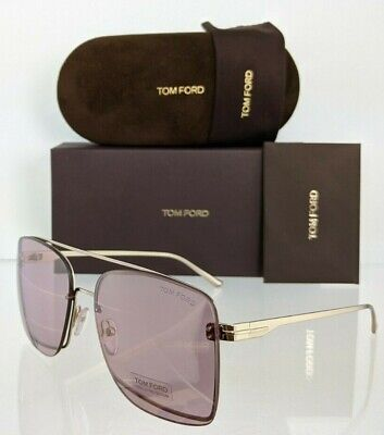 TOM FORD PENN FT0655 TF 655 28E Shiny Rose Gold Brown Lens