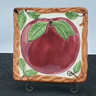 Franciscan Apple Fluted Trivet  Great Condition  Made is USA