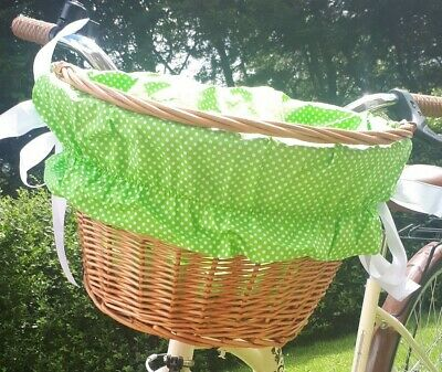 Cotton liner bike basket insert fabric cover Mickey Mouse print