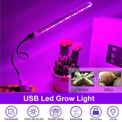 2.5-4.5W Mini USB Home Led Grow Light Lamp For Indoor Hydroponic Plant Flower