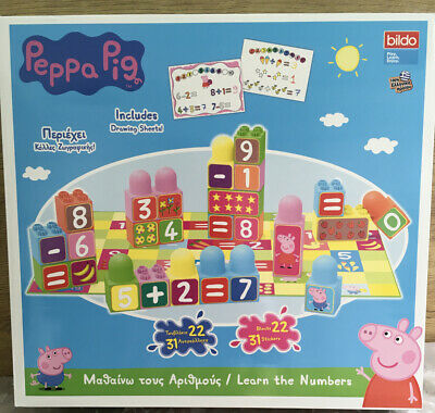 Peppa Pig Learn The Numbers Stacking Blocks Block 50 Piece Toy Playset