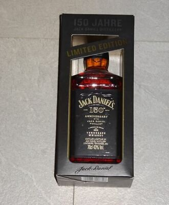 Jack Daniels 150th Anniversary Embroidered Black Cap Hat 2016 NEW NOS