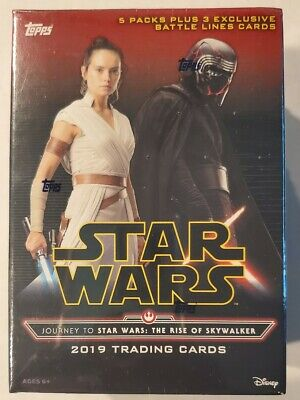 2 Topps 2019 Star Wars The Rise Of Skywalker Blaster Boxes Jumbo Patch Card 29 97 Picclick Uk