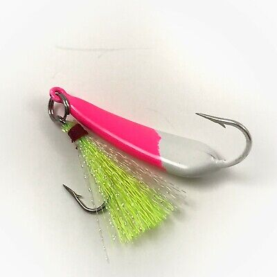 Chartreuse Pompano Jigs with Teasers