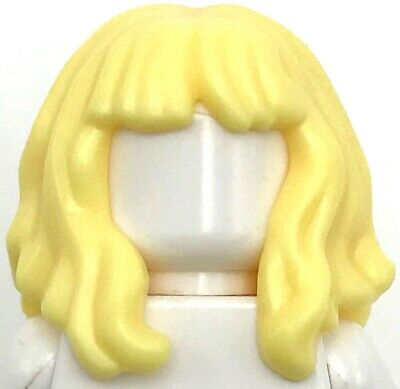 LEGO LOT OF 20 NEW BRIGHT LIGHT YELLOW FEMALE GIRL BLONDE HAIR WIGS PIECES
