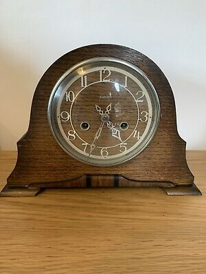Handsome Antique Smiths Enfield 8 Day Mantel Clock with Chime