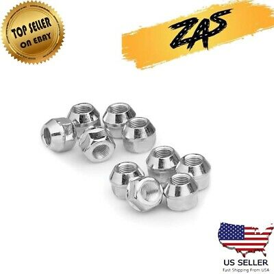 White Knight Wheel Accessories Pack of 4 White Knight 1309-14S Zinc Finish 14mm x 1.50 Thread Size Open End Bulge Acorn Lug Nut,