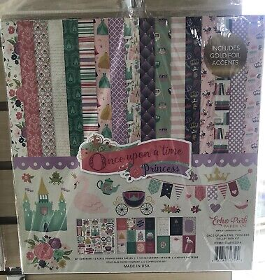 12 x 12 Echo Park perfect princess fairy Birthday party girl Scrapbook Paper kit