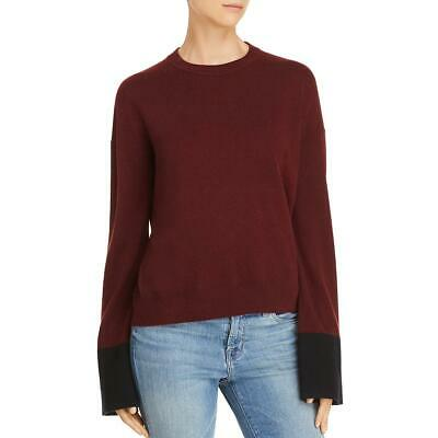 Theory Womens Slouchy Wool Crew Neck Shirt Pullover Sweater Top BHFO 4527