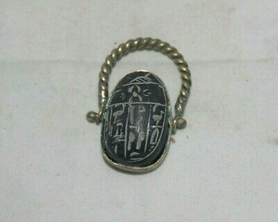 Rare Ancient Egyptian Antique Ring Scarab 1325-1211 Bc
