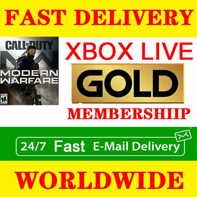 Microsoft Xbox Live One/360 Gold Membership Instant 24/7 Delivery 14 Days Trial