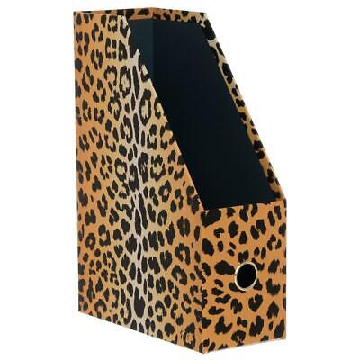 WHSmith Sienna Leopard Print Magazine File Suitable For A4 Paper /& Smaller