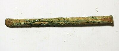 ZURQIEH -as18130- ANCIENT HOLY LAND. BRONZE AGE. 2900 B.C BRONZE CHISEL