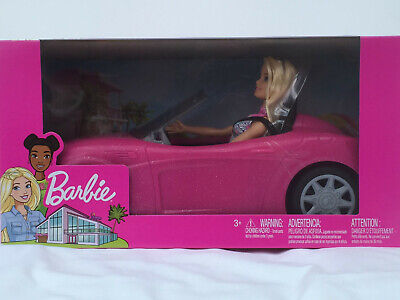 Barbie Convertible Pink Car and Doll | Glam Doll Set | Official Boxed Brand New