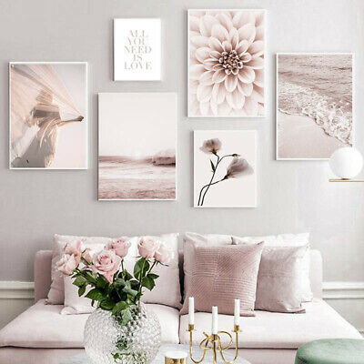 Flower Grass Nature Landscape Canvas Painting Nordic Posters Modern Home Decor