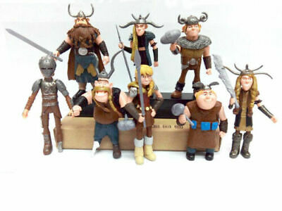 """8Pcs/set 4~5""""How to Train Your Dragon Figure Hiccup Toy Kid Toys Figurine"""