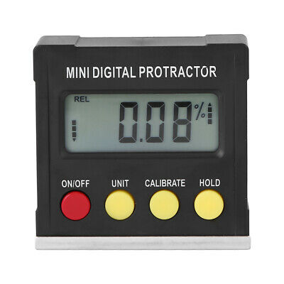 Cube Inclinometer Angle Gauge Meter Portable LCD Digital Protractor Level Tool