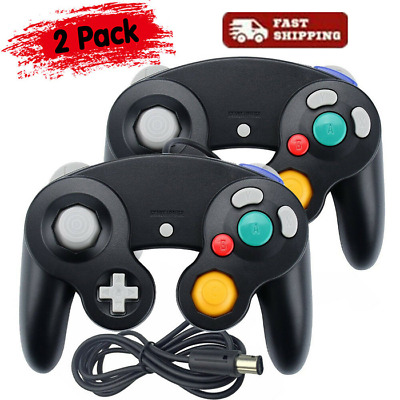 2 Pack Wired NGC Controller Gamepad for Nintendo GameCube GC & Wii U Console NEW