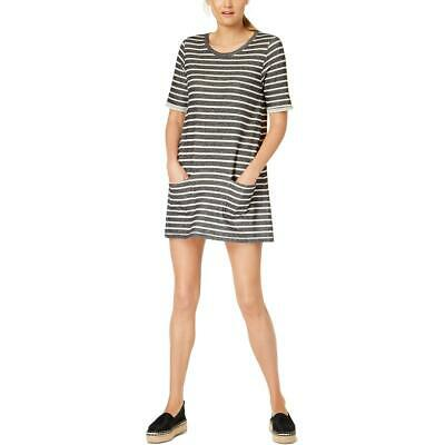 French Connection Womens Adoni Brown Tie Front Collar Casual Dress M BHFO 8832